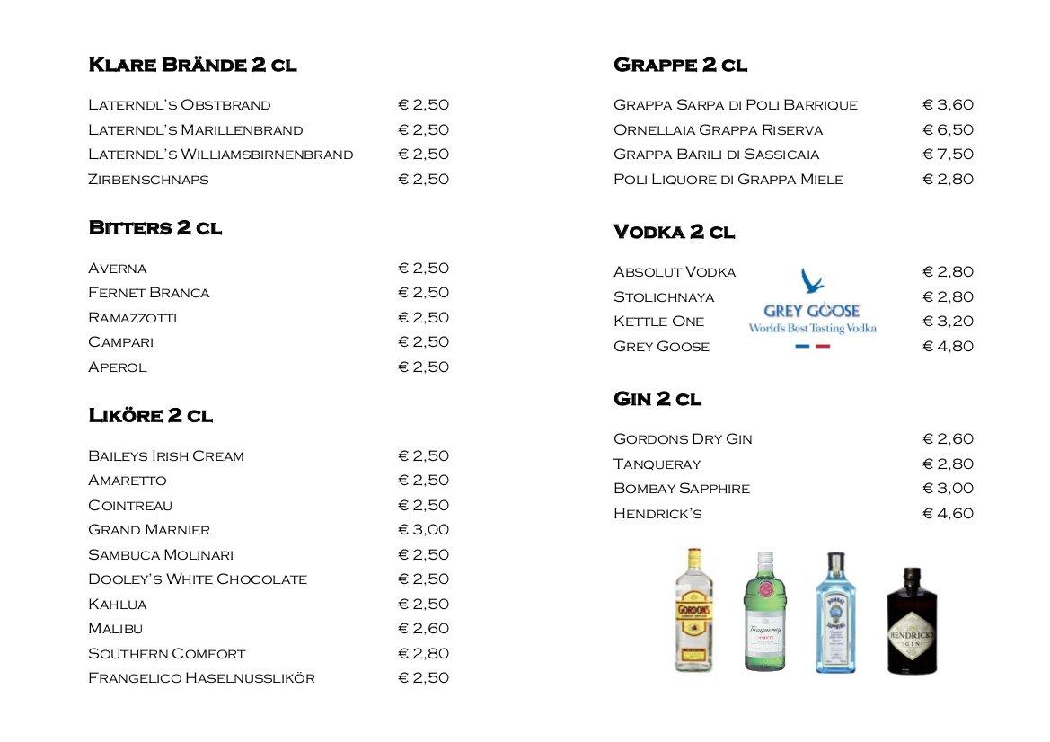 Karte Cafe Bar Laterndl Heiligenblut